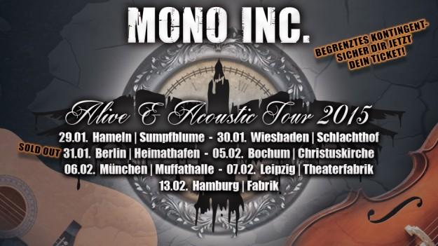 MONO INC. Berlin ausverkauft