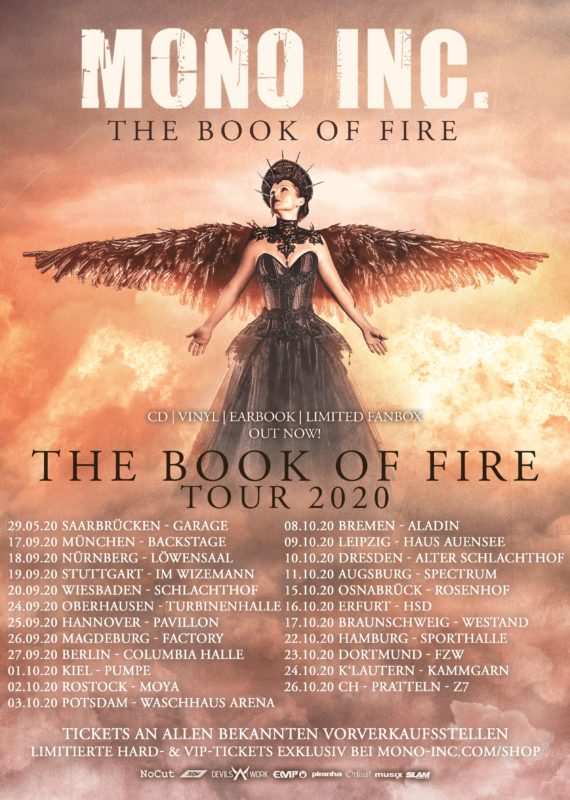 MONO INC The Book of Fire Tour neue Termine